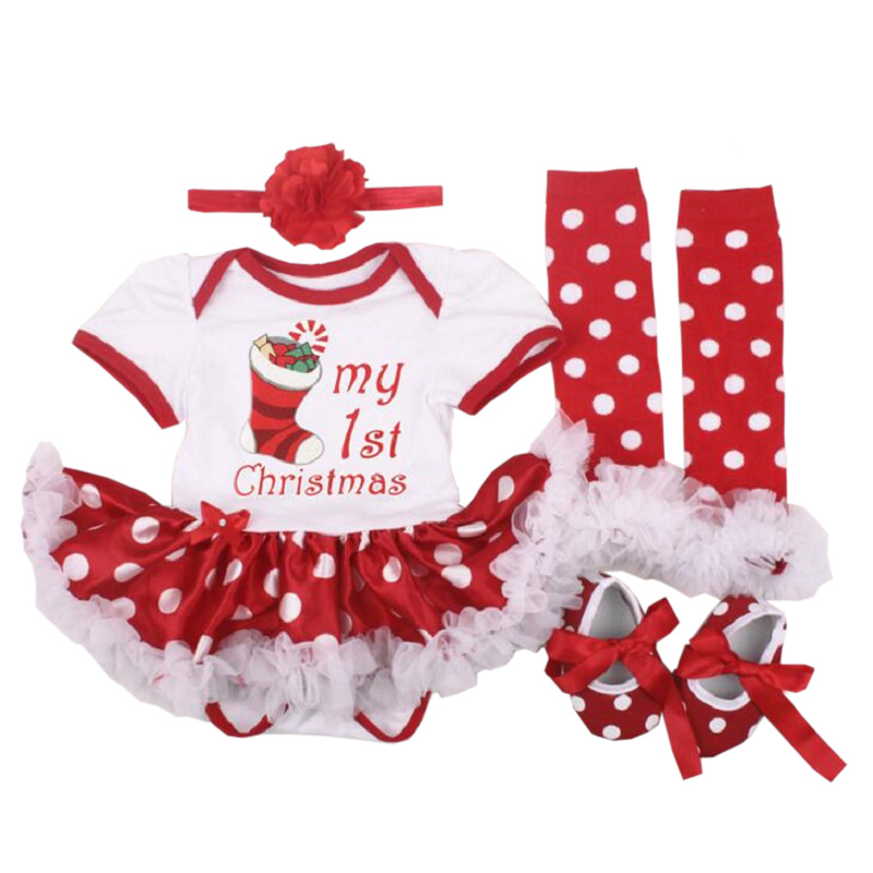 Baby Christmas clothing sets New year reindeer sets bebes romper dress first Christmas Costumes Lace Tutu Dress Xmas gifts baby girl infant 3pcs clothing sets tutu romper dress jumpersuit one or two yrs old bebe party birthday suit costumes vestidos