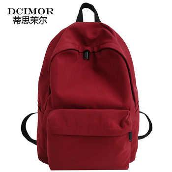 DCIMOR New waterproof nylon women backpack Japan style Solid Backpacks Mochila Feminina Mujer Travel bag Teenage Girls Schoolbag - DISCOUNT ITEM  49% OFF All Category