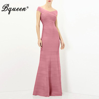 Hego 2016 New Bandage Boat Neck Gown Maxi Party Dresses Sexy Costumes