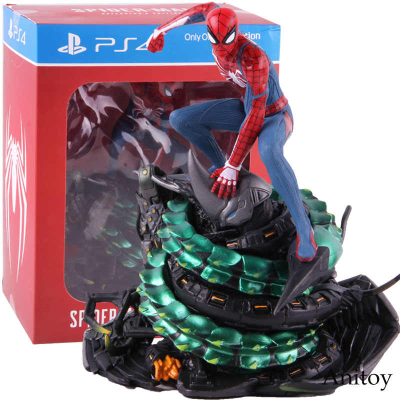 Colecionadores Edição Limitada PS4 Spider-Man Spiderman Marvel Action Figure PVC Estátua Collectible Toy Modelo