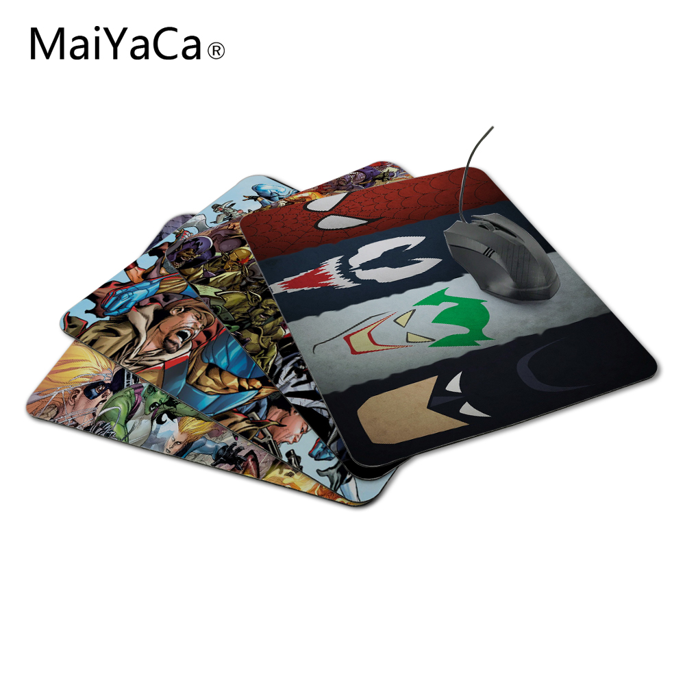 MaiYaCa Comic Heroes 18*22cm or 25*29cm Durbale Mouse Pad Speed Control mat Not Lockedge MousePad