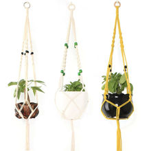 2019 Newest Tassel Pot Holder Macrame Plant Hanger Hanging Planter Basket Jute Braided Rope Hanging Flowerpot Net