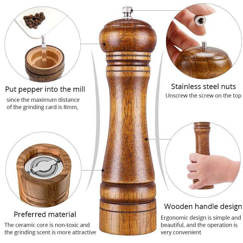 Wooden Pepper grinder/Pepper Mill/Pepper Crusher/Pepper Grinder ...