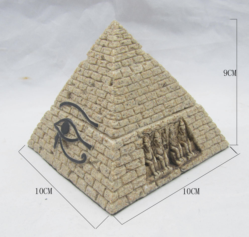 Egyptian aquarium ornaments - New Arrivals Egypt Style Small Pyramid Aquarium Home Decor Novelty Household Decorations 9 Cm 12010