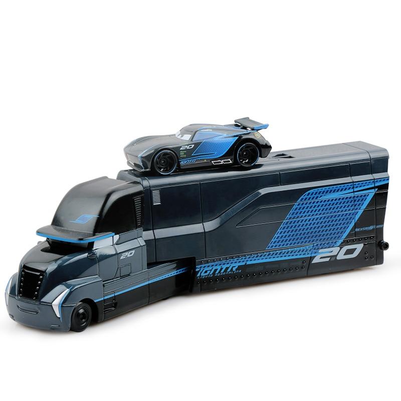 Дисней Pixar Тачки 2 3 игрушки Молния Маккуин Джексон шторм мак грузовик 1:55 литая под давлением модель автомобиля для детей рождественские подарки - Цвет: Two cars 4