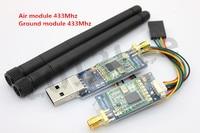 Single TTL 3DRobotics 3DR Radio Telemetry Kit 433Mhz Ground Module And Air Module For APM APM2