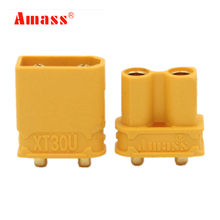 5pairs Amass XT30UPB XT30 UPB 2mm Plug Male Female Bullet Connectors Plugs For PCB 20%off(China)