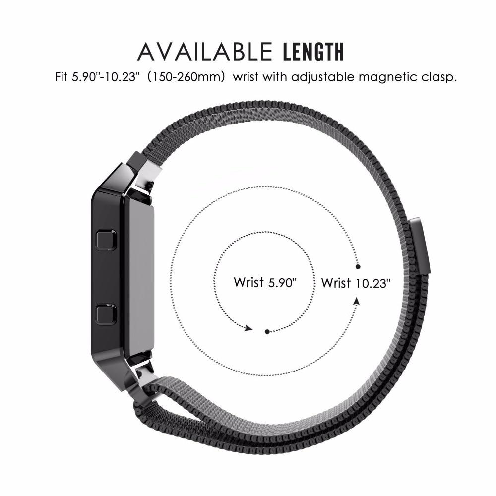 CARLYWET 16 18 20 22 23mm Plata Negro Rosa Oro Azul Malla Milanesa - Accesorios para relojes - foto 6