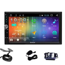 Capacitive screen Car Stereo Android 6.0 2Din Navigation Vehicle GPS Unit Radio Receiver 1080P Video/SWC/WiFi/USB/SD+Dual Camera