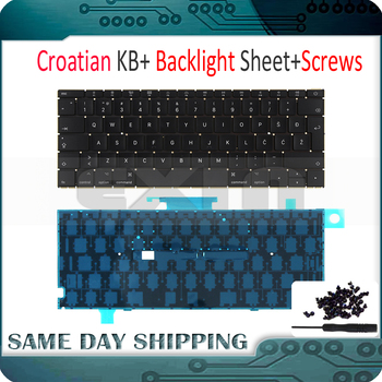 "New Laptop A1534 Croatian Croatia EURO EU Keyboard w/ Backlight Backlit +Screws for Macbook 12"" A1534 Keyboard 2015 2016 2017"
