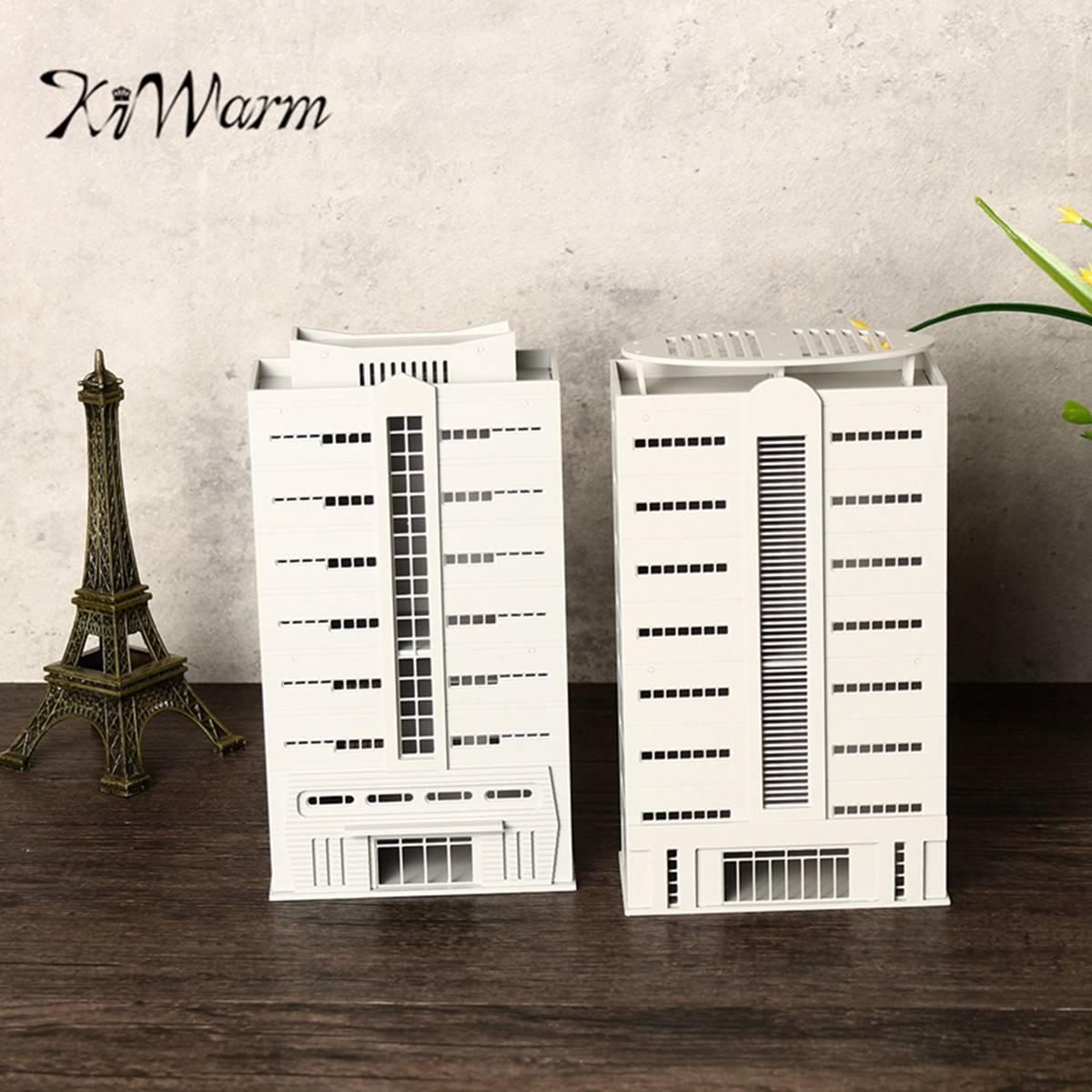 KiWarm Outland Building Model N Scale Gauge 1/144 Scene Modern House Apartment Miniatures Figurines Ornaments Crafts Gift