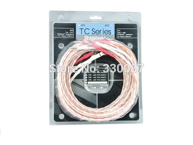 Free shipping 5 meter Viborg 8TC speaker cable audiophile speaker wires Single wire original box patriot 2000i