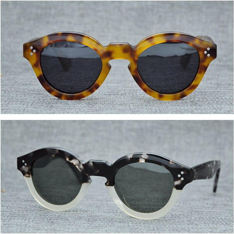 Cubojue Acetate Polarized Mens Sunglasses Vintage Glasses Man Polaroid UV400 Black Tortoise Thick Frame PUNK SUNGLASS