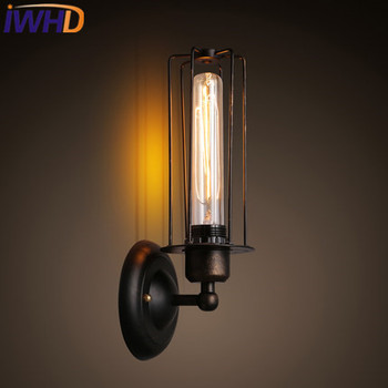 IWHD Black Wall Light Up Down Style Loft Retro Industrial wall lamps Angle Adjustable Wandlamp Home Lighting Fixture Luminaire