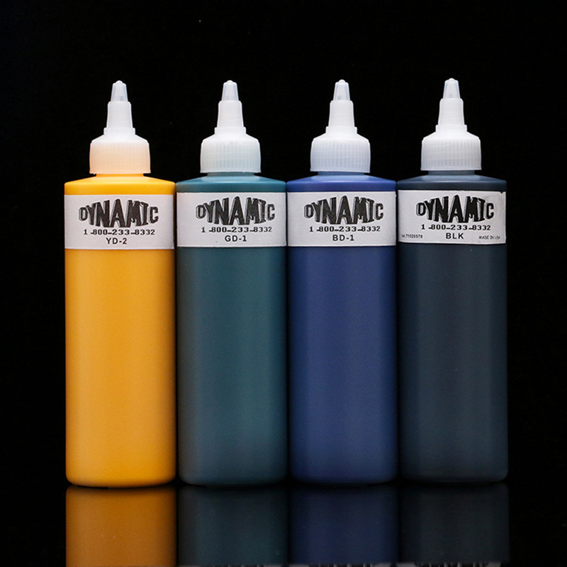 8 oz dynamic color bright tattoo ink pigment permanent body art paint lining and shadow professional tattoo products 250ml / bot8 oz dynamic color bright tattoo ink pigment permanent body art paint lining and shadow professional tattoo products 250ml / bot
