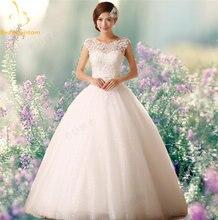 Женское свадебное платье с аппликацией белое или красное кружевное