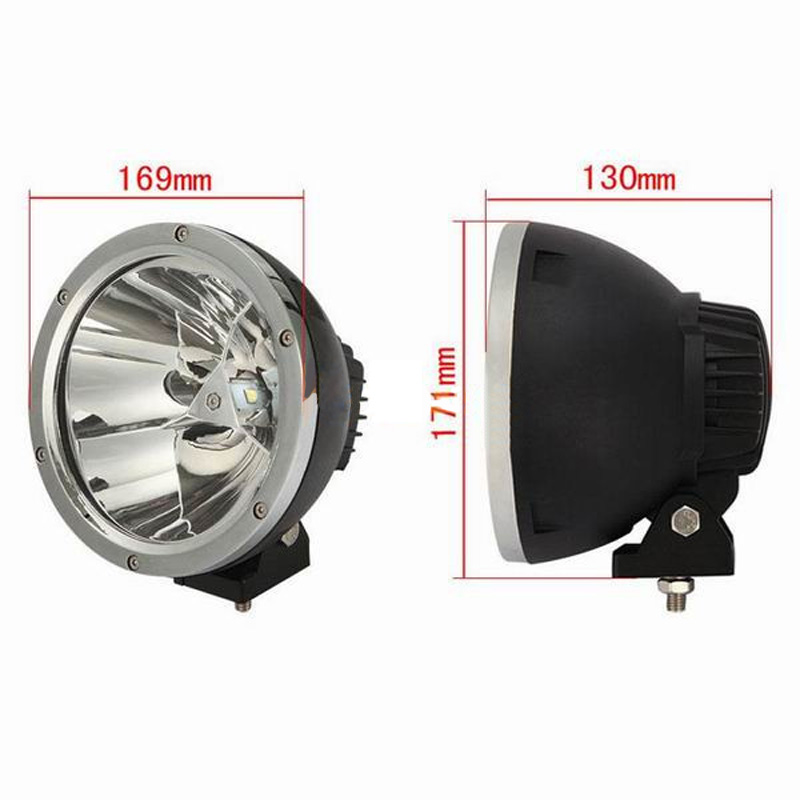 "Image 3 - XuanBa 2Pcs 7"" inch 45W Round Led Work Light Spot Beam 12V 4x4 Off road Boat Truck SUV ATV Headlight Driving Lights 24V Fog Lamp-in Light Bar/Work Light from Automobiles & Motorcycles"