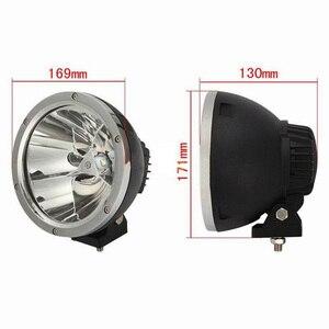 """Image 3 - XuanBa foco de luz Led redondo, 2 uds., 7 """", 45W, haz de luz 12V, 4x4, faro antiniebla para barco, camión, SUV, ATV"""