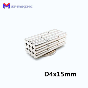 4mm Neodymium magnets bar 500pcs 4x15 D4*15 small Ronud super strong powerful magnets Dia.4x15 high quality magnet 4*15mm magnet