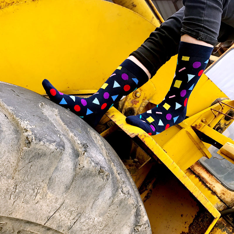 HOT Dot Big Code Long Section Fashion Trend Socks Interesting Mens Socks Novelty Socks