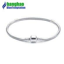 3mm Charm charms plata de ley 925 original bracelet jewelry berloque valentine's day mary poppins bijoux sieraden цена