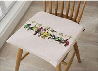 Modern minimalist birds seat cushion thick cotton chair cushion seat mat anti slip home decor