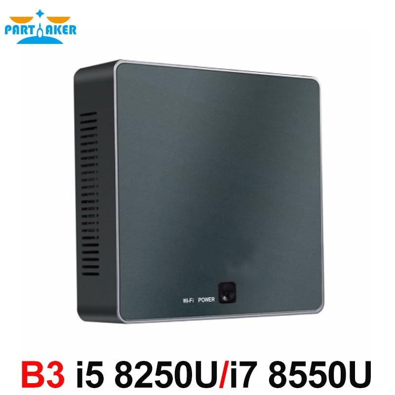 Image 5 - Partaker B3 Mini PC 8th Gen Intel Core i7 8550U i5 8250U Quad Core DDR4 mini pc Plam mini Computer with HDMI Type c up to 4GHz-in Mini PC from Computer & Office