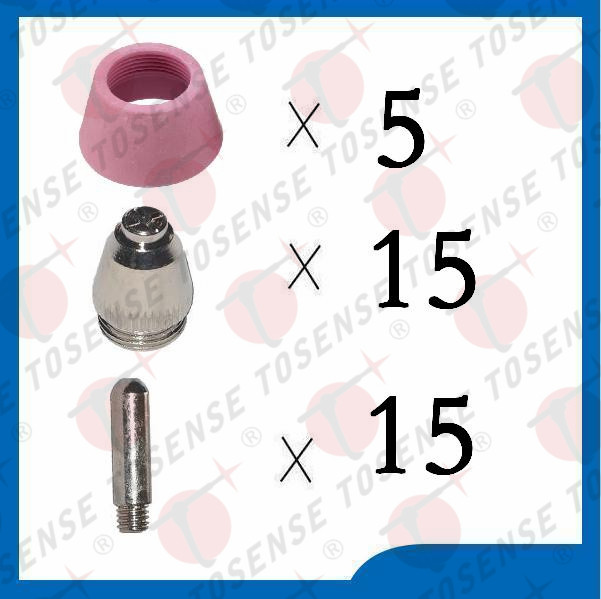 35PCS, AG60 SG55 Consumables, SG-55 AG-60 cutting torch parts, for Plasma Cutter(SG 55 AG 60) 5m sg 55 ag 60 plasma cutter cutting torch complete 40 60amp