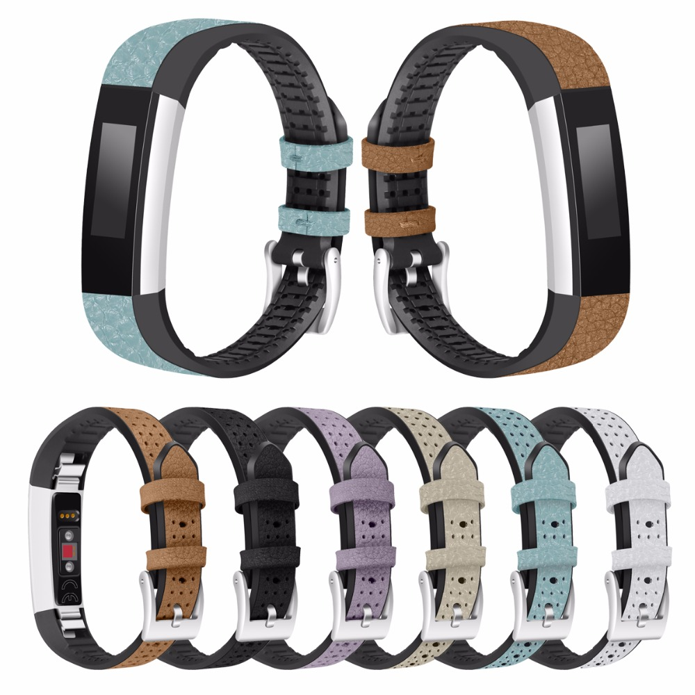 For Fitbit Alta HR and Fitbit Alta band Leather Replacement Watch band Small Large No tracker lnop nylon rope survival strap for fitbit alta alta hr replacement band bracelet wristband watchband strap for fitbit alta