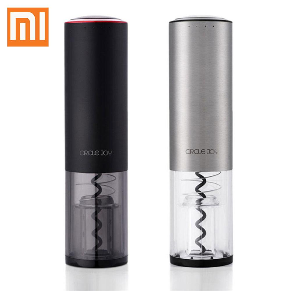 Xiaomiyoupin Circle Joy Automatic Electric Wine Bottle Stopper Opener with Foil Cutter Wine Stopper Opener High QualityXiaomiyoupin Circle Joy Automatic Electric Wine Bottle Stopper Opener with Foil Cutter Wine Stopper Opener High Quality