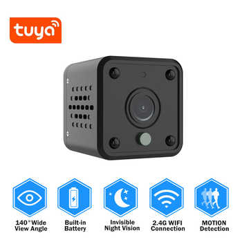 Tuya Wifi Camera 1080P Smart Home Security Baby Monitor 140 Degree Wide Angle Wireless Mini IP Camera Built-in Battery IPCAM - DISCOUNT ITEM  30% OFF All Category