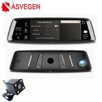 Asvegen 9.88 inch 4G WIFI Bluetooth GPS Rearview Mirror Standard 1600*400 HD Full Screen Android Car 1080P 140 Degrees Recorder