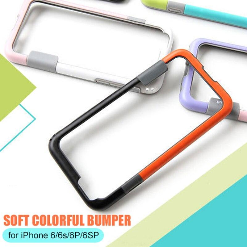 Parachoques para iPhone 6 6s 7 8 plus X Soft TPU Frame Case Cover - Accesorios y repuestos para celulares - foto 2