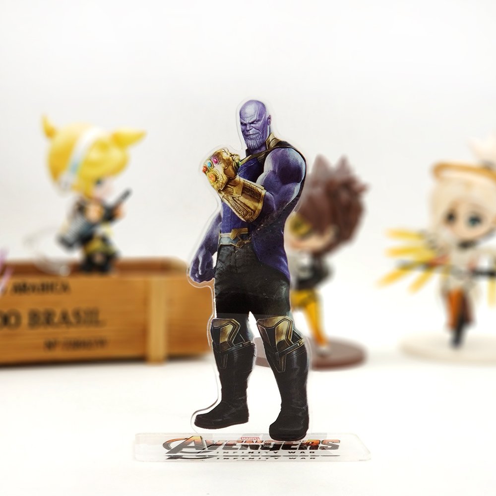 Love Thank You Avengers Infinity War Thanos Marvel acrylic stand figure model plate holder cake topper anime movies