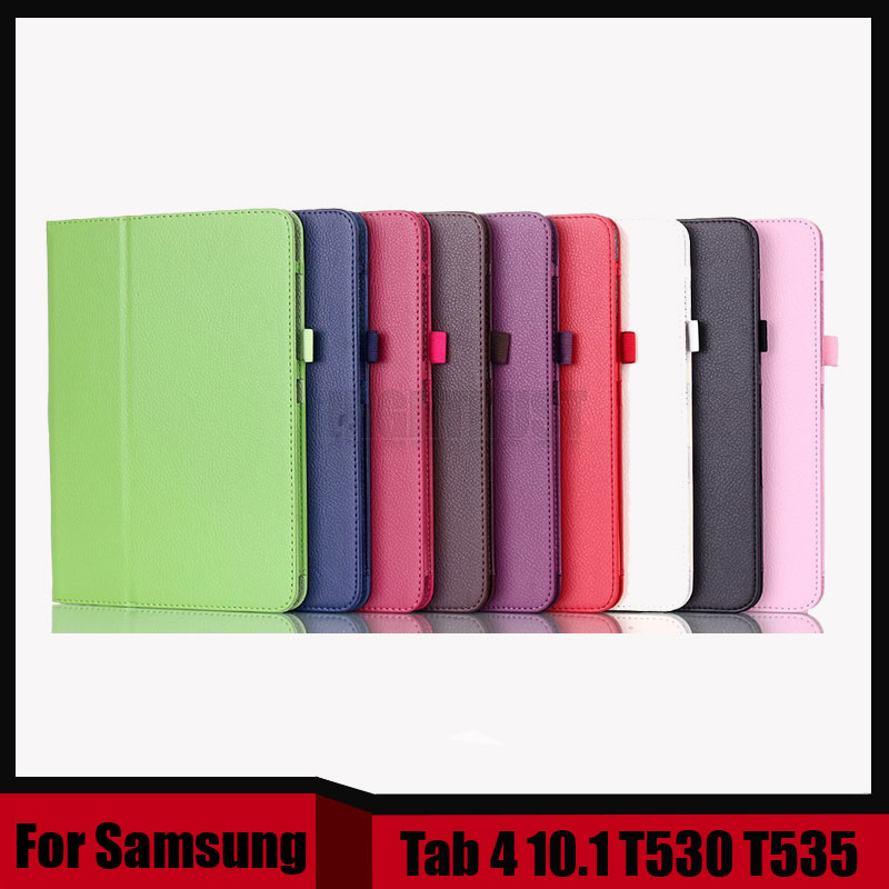 3 in <font><b>1</b></font> Hot Sale PU Leather Case Stand Tablet Cover Case For Samsung Galaxy Tab <font><b>4</b></font> <font><b>10</b></font>.<font><b>1</b></font> T530 T531 T535 + Stylus + Screen Film image