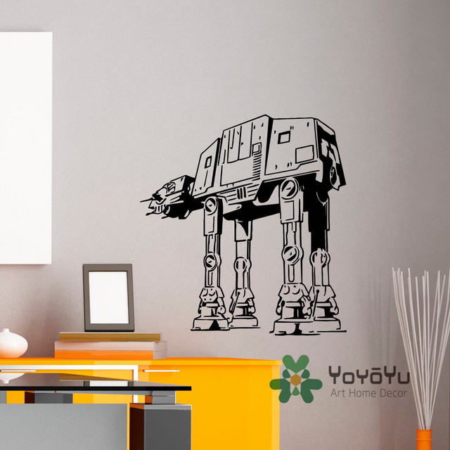 Wall Decal Vinyl Stickers Star Wars AT Walker Murals Children Kids Teens Boys Room Bedroom Art