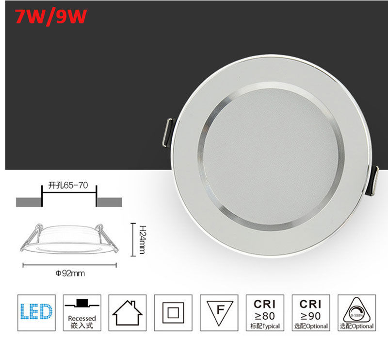 Logical 1pcs 5w 7w 9w 12w 15w Waterproof Ip65 Dimmable Led Downlight Smd Dimming 12w Led Spot Light Led Ceiling Lamp Ac 85-265v Lights & Lighting Ceiling Lights & Fans