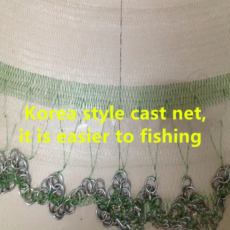 D450cm Korea Stil Cast Net Runde Fischernetz Fischfalle Fischernetz - Angeln - Foto 4