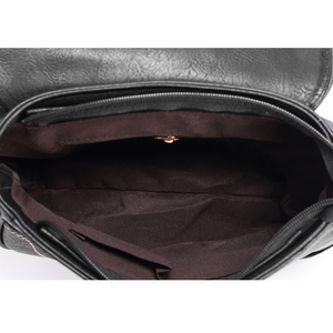 Image 5 - Annmouler Brand New Crossbody del Sacchetto Dellunità di Elaborazione Donne di Cuoio Satchel Bag Scava Fuori Il Sacchetto di Spalla Nero Vintage Borse Messenger Bag