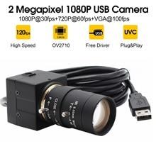 6-60mm/5-50mm montaje CS lente 1080P de la cámara web USB CMOS OV2710 MJPEG 30 fps/60 fps/120 fps USB video cámara con cable usb de 3m