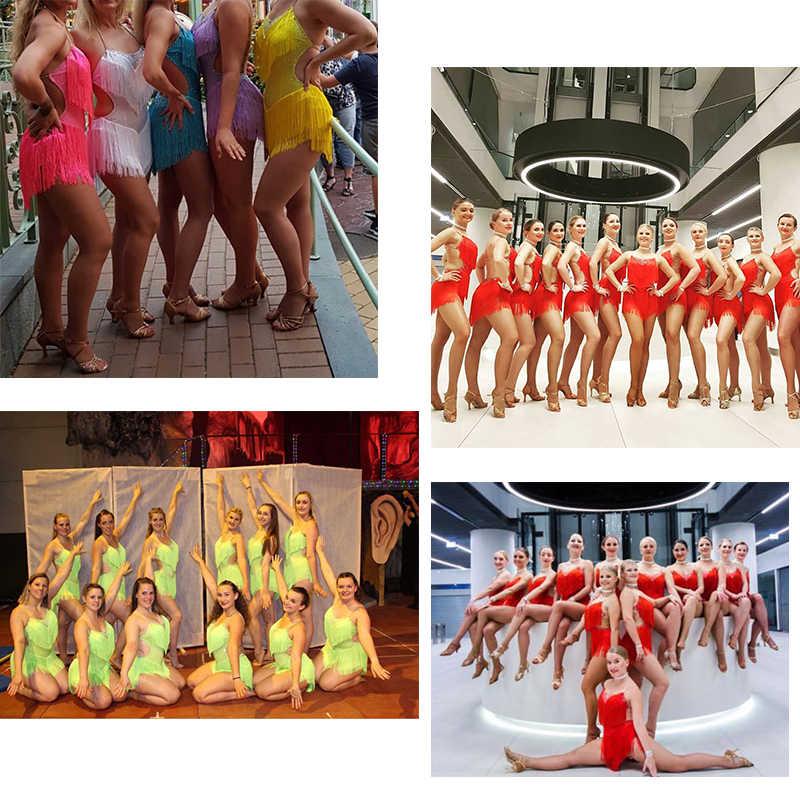 2019 топ продаж латинские танцевальные платья для женщин черные кружевные Клубные вечерние танцор певец развлечения Бахрома Кисточкой черное платье DM1034
