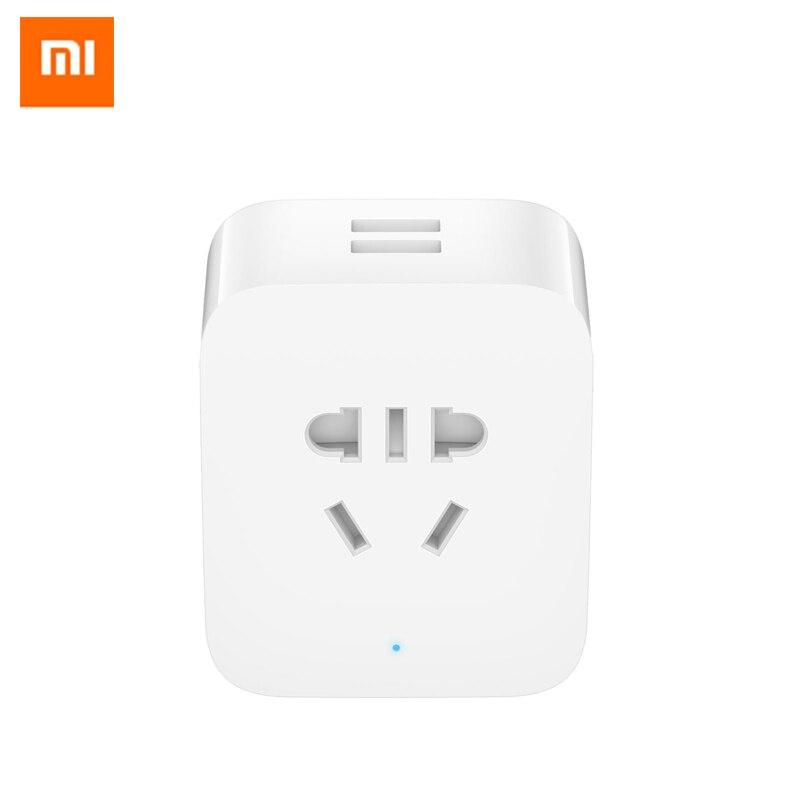 New Original Xiaomi Mijia Smart socket Update version Mi Socket, with 2 USB interface fast charge for xiaomi smart home kits