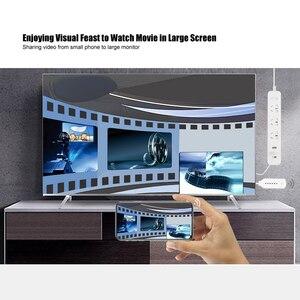 Image 3 - Беспроводной WiFi зеркальный литой кабель для MHL в HDMI конвертер 1080P HDTV адаптер HDMI кабель для iPhone для Samsung Android Windows