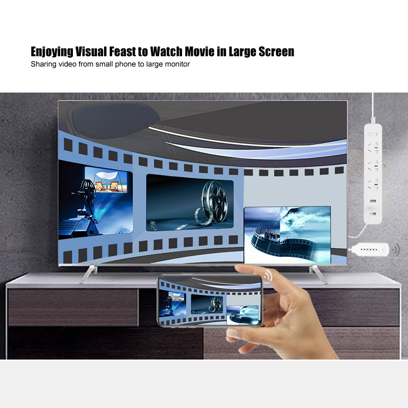 Image 3 - Wireless WiFi Mirror Cast Cable for MHL to HDMI Converter 1080P HDTV Adapter HDMI Cable for iPhone for Samsung Android WindowsHDMI Cables   -