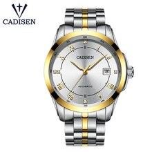 CADISEN Mens Watches Miyota Movt Stainless Steel Mechanical 5TAM Luxury Sapphire Dress Watch Automatic Men Wristwatches