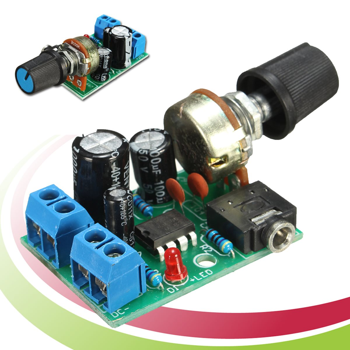 1pc New Arrival Lm386 Audio Power Amplifier Board Dc 3v