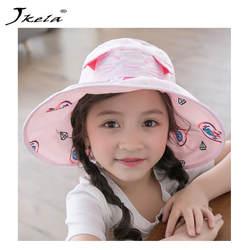 2018 новая детская ткань шляпа, кепки для детей cat шляпа с пустым верхом детей рыбака солнце шапочки с цветочным принтом круглой формы