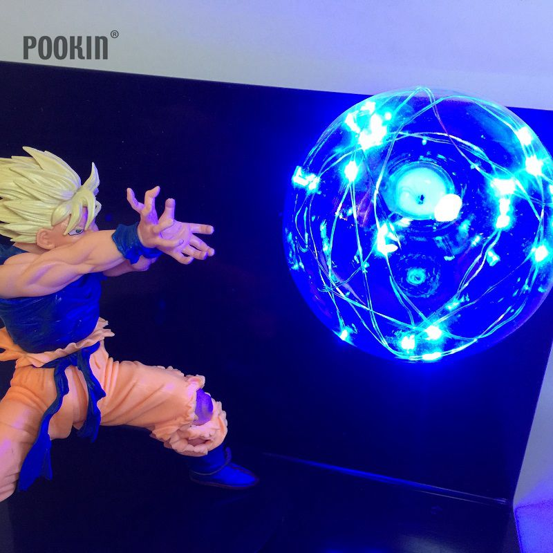 Newest Dragon Ball Son Goku Four Colors Bombs Luminaria Led Night Light Holiday Gift Room Decorative Led Lighting In EU US Plug 2018 3m 220v 20pcs car models night lamp kid children room decor paper string lighting holiday lights eu uk plug luminaria