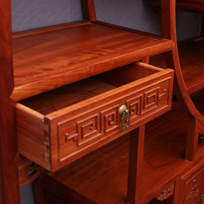 Chinese Rosewood Furniture, Ming And Qing Antique Wood Antique Brazilian  Rosewood Frame Treasure House Shelf Off In Patio Benches From Furniture On  ...