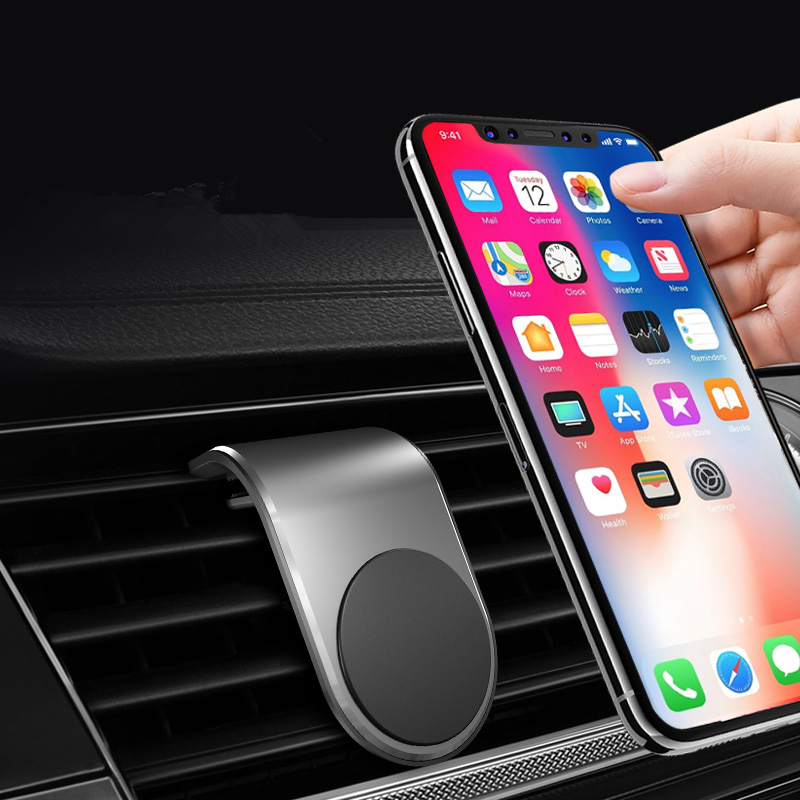 Car Phone Holder Magnetic Air Vent Mount Mobile Phone Stand Magnet Support Cell In Car GPS For IPhone  Samsung Smartphone